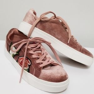 MADDEN GIRL Velour Casual Lace-up Shoes Size 8